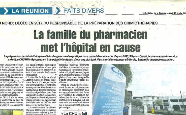La famille du pharmacien met l'hôpital en cause